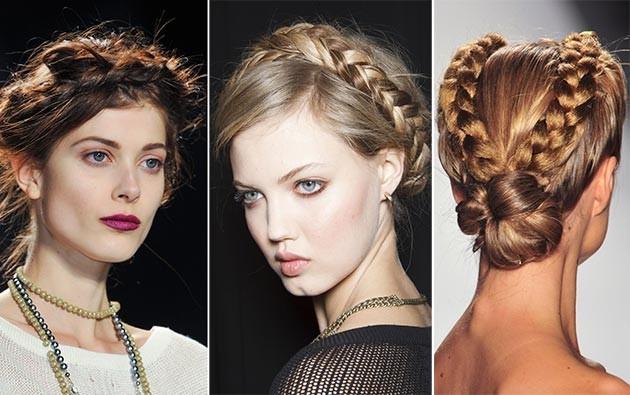 Модные прически с косой на среднее волосы
