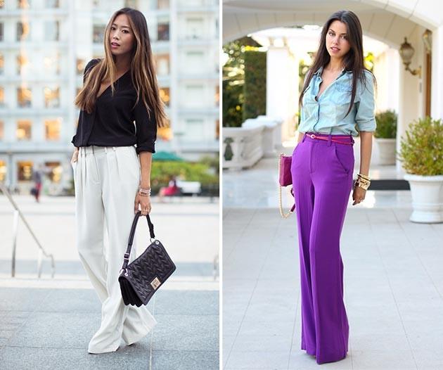 С чем носить брюки: классические, широкие и