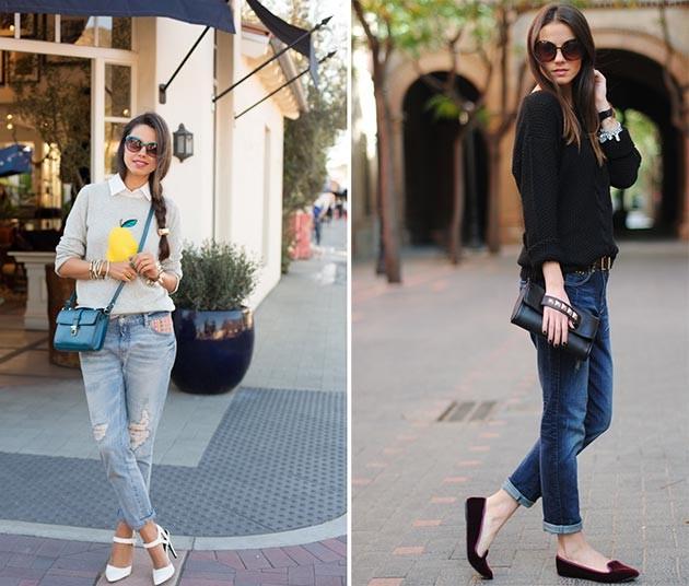 Как носить джинсы-бойфренды