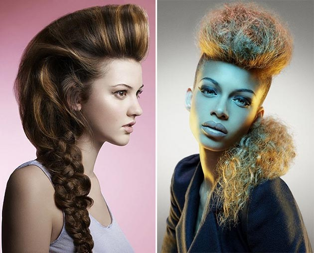 Прически с ирокезом женские длинные волосы