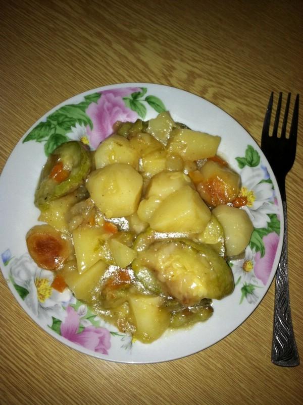 Кабачки тушеные с картошкой пошаговый рецепт с 145