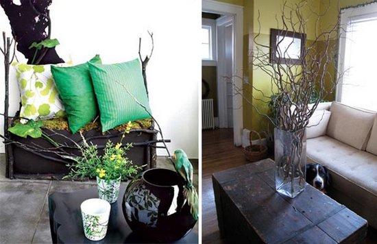 Ближе к природе: Ветка дерева в роли элемента домашнего декора