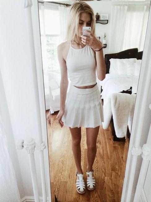 Юбка теннисная белая