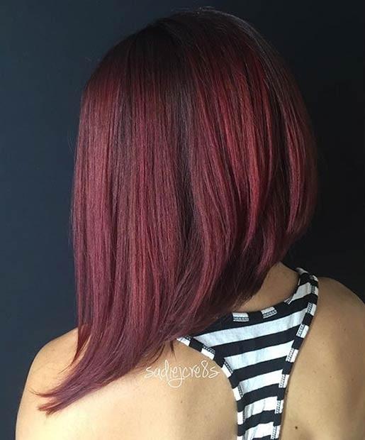 цвет волос бордовый фото
