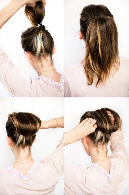 пучок из волос пошаговое фото оно исполнится
