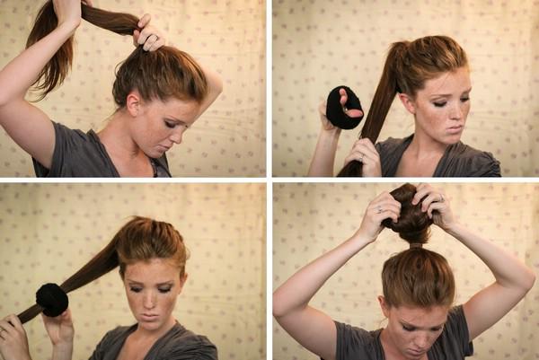 Как с помощью носка сделать пучок на голове