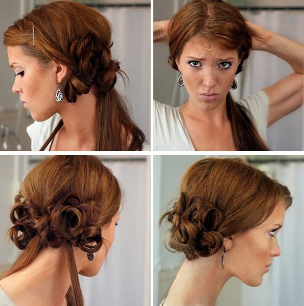 Прическа на бок на средние волосы пошаговая инструкция