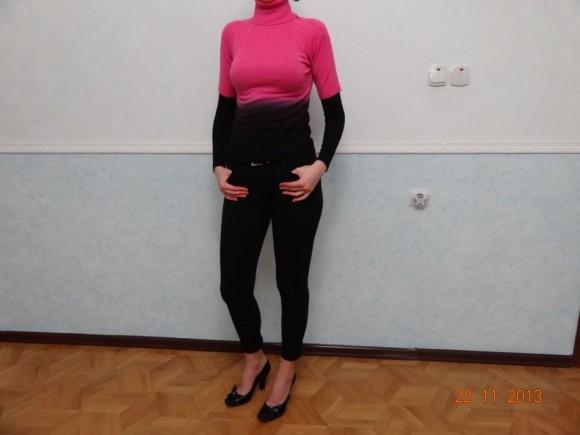 Одежда черного цвета со свитером
