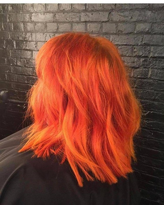 В моде оранжевый цвет волос