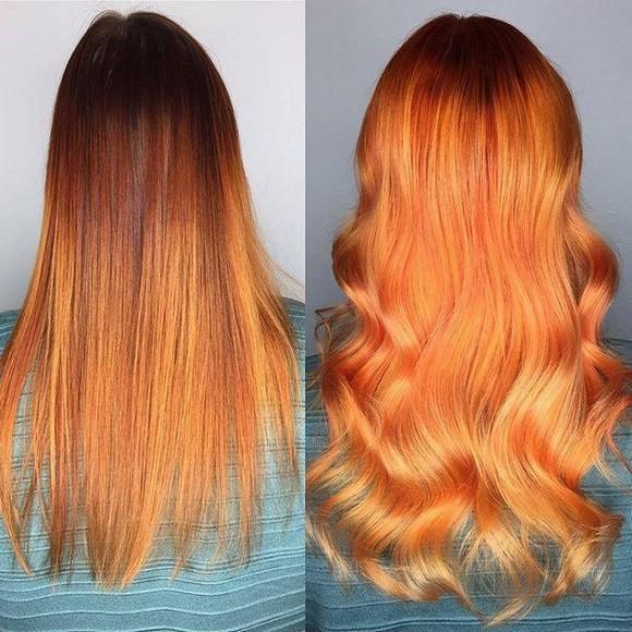 Оранжевый цвет волос