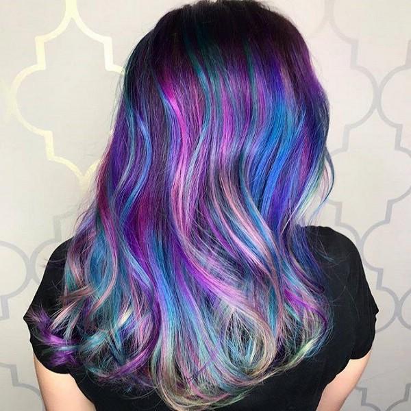 Покраска волос с переливами