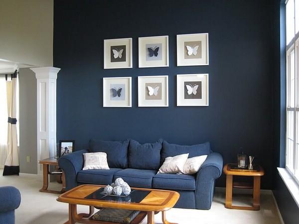 Синий цвет интерьера