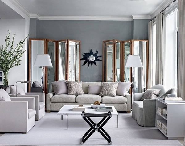 Серый цвет интерьера