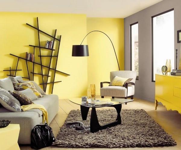 Желтый цвет интерьера